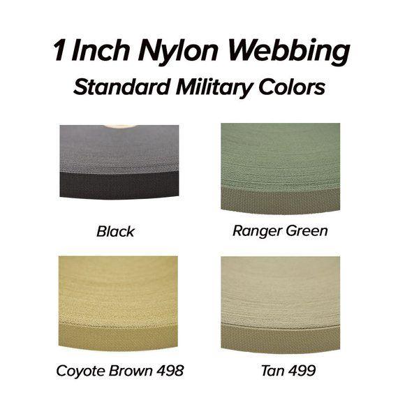 Military Nylon Webbing 1 Inch Mil Spec 2 Sided Per Yard Multicam Kryptek 55301
