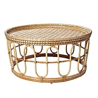 banda coffee table lightweight and portable serena u0026 lilyu0027s rattan table is easily enjoyed inside or out - Rattan Coffee Table