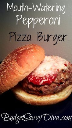 Melt In Your Mouth Burger. Done in under 20 minutes. Picky- Eater Approved. Pizza Burger