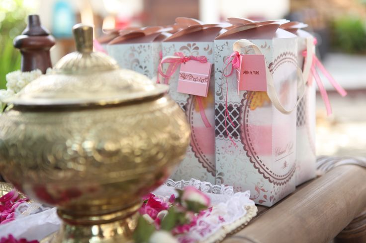 """the gift and water in the jar for traditional wedding ceremony """"siraman"""""""