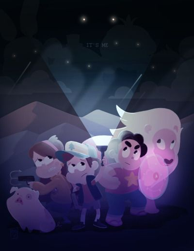 Gravity Falls & Steven Universe I can also see the Five Nights at Freddy's crew there. That would be such an epic battle!