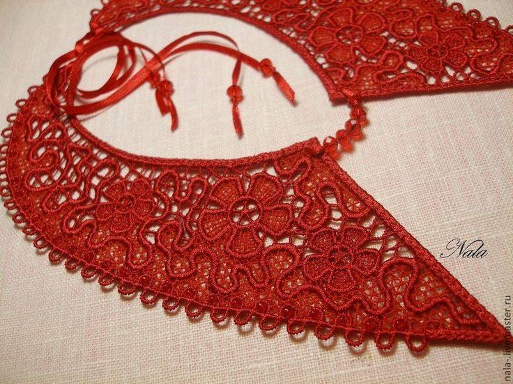 #Кружевной #съемный #воротничок #lace #collars #Nalaembroidery