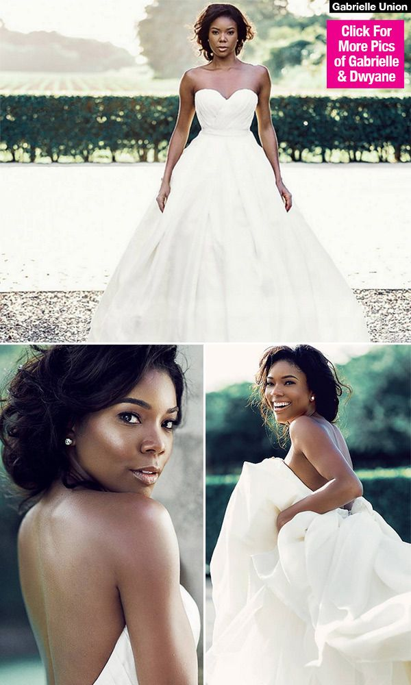 Now that's one way to celebrate! Gabrielle Union treated fans to a special gift on her wedding anniversary, by showing off never-before-seen pics of the star in her wedding dress -- and you can see them right here!