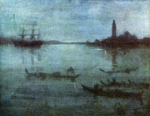 Rouge et Noir a Badem Ciflik: James Abbott McNeill Whistler - Nocturne in blue a...
