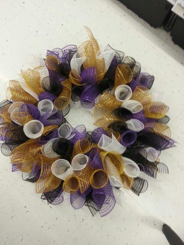 Baltimore Ravens Mesh Wreath