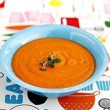 Smal tomatsoppa med linser och sötpotatis
