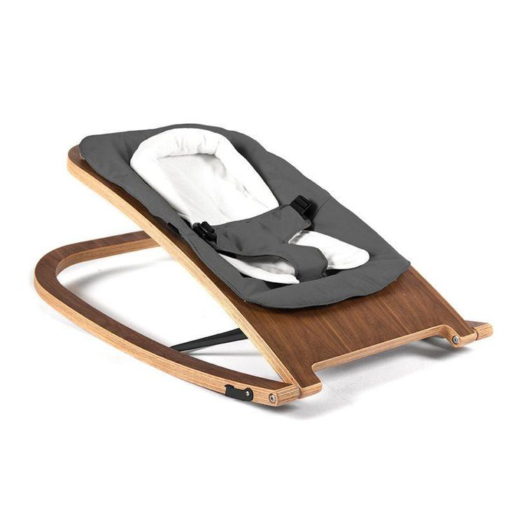 Babyhome Wave Rocker Babywippe in Walnuss Graphite   Jetzt online kaufen ✓ Moderne Babywippe aus Holz ✓ Holz-Design zu fairem Preisen ✓ Versandkostenfrei