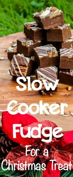 Slow Cooker Fudge for a Christmas Treat