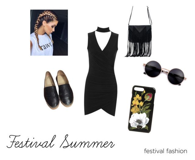 Festival Summer #1 by vilja1995 on Polyvore featuring WearAll, Chanel, WithChic and Dolce&Gabbana