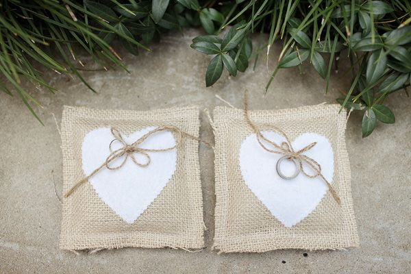 Southern weddings, Southern wedding ideas, burlap ring bearer pillow, rustic ring bearer pillow, Landon Jacob