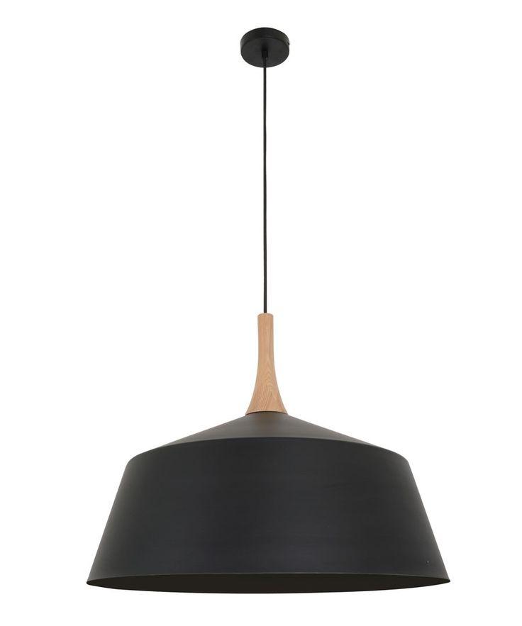 Kitchen over bench light x 2 - Husk 550mm Pendant in Matt Black/Ash   Pendant Lights   Lighting