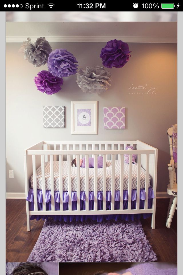 Best 25 girl nursery purple ideas on pinterest baby for Baby girl decoration room