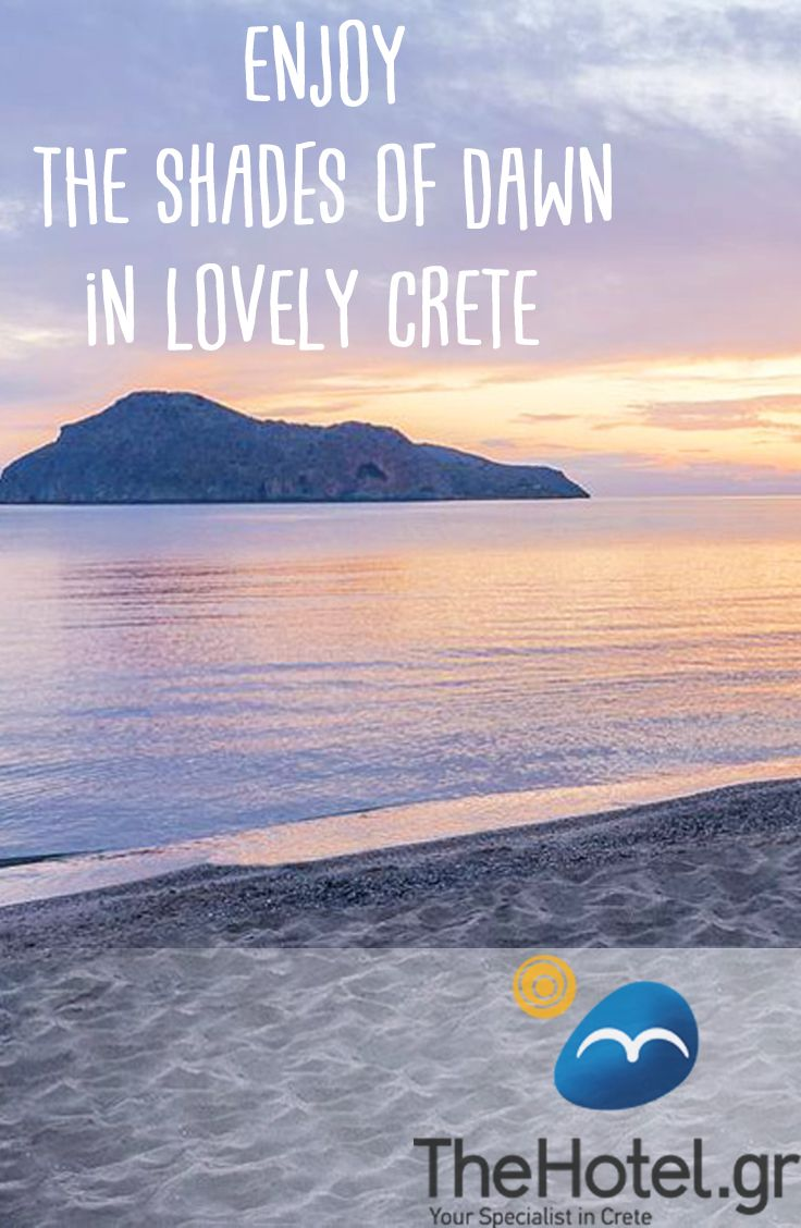Enjoy the shades of dawn in lovely Crete! Visit TheHotel.gr and book a villa, hotel or apartment to enjoy these views in the beautiful greek island!