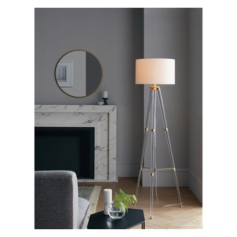 Brighten Up Your Space With The Round Decorative Wall Mirror From Project 62 153 This Mirror Brings Modern Tripod Floor Lamps Floor Lamp Free Standing Lamps