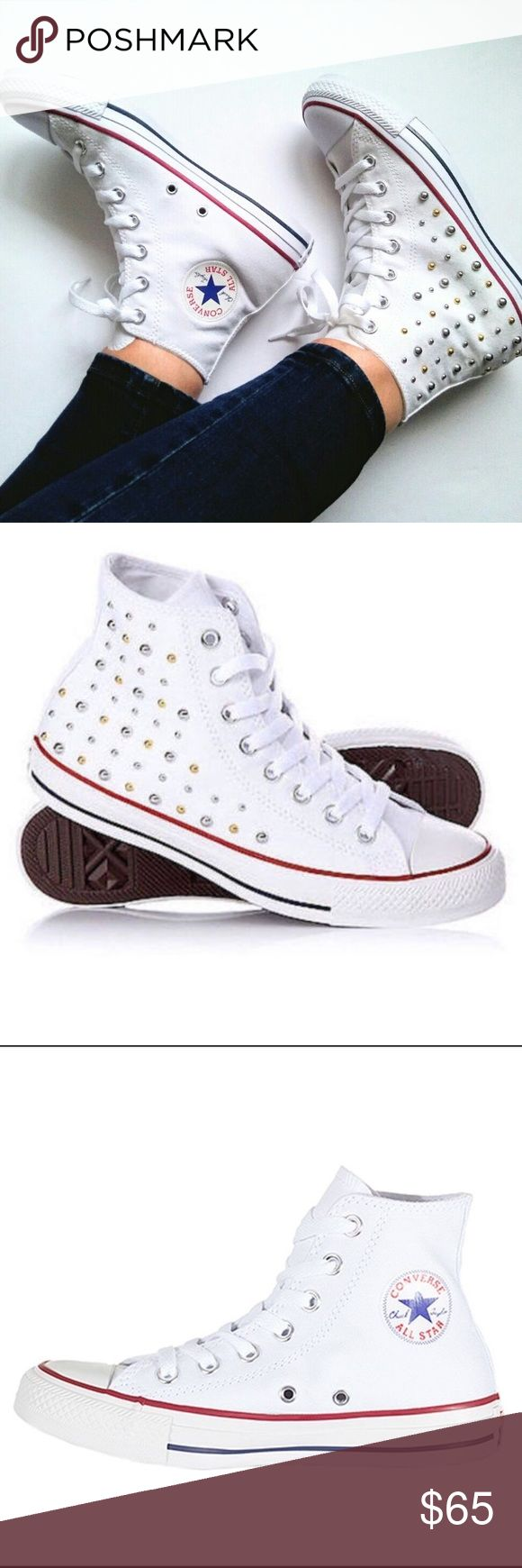 Studded converse Studded converse. New without box. Converse Shoes Sneakers