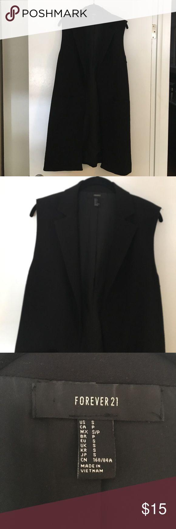 Long work vest Super cute long open vest. Looks great with
