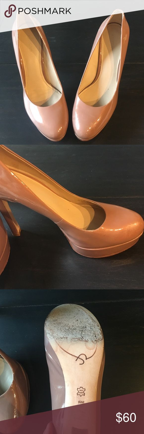 Joan & David patent heels - blush Joan & David Flip patent heel. Size 8 1/2. Slight scuffs along bottom front.  Beautiful color! .  Reasonable offers accepted. Joan & David Shoes Platforms