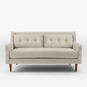 "Crosby 67"" Loveseat, Shadow Weave, Oatmeal"