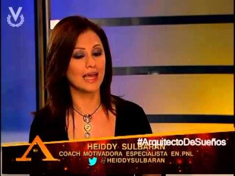 Heiddy Sulbarán habla sobre la importancia de creer en uno mismo en el programa Arquitecto de Sueños de Alfonso León por Venevisión.