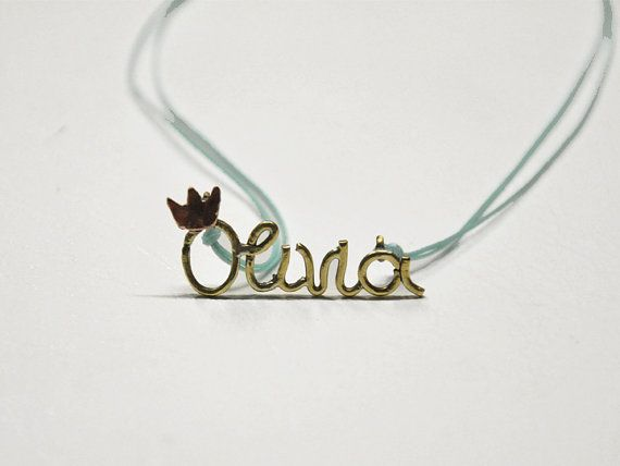Olivia brass and copper necklace. Personalized handmade by zOOzART