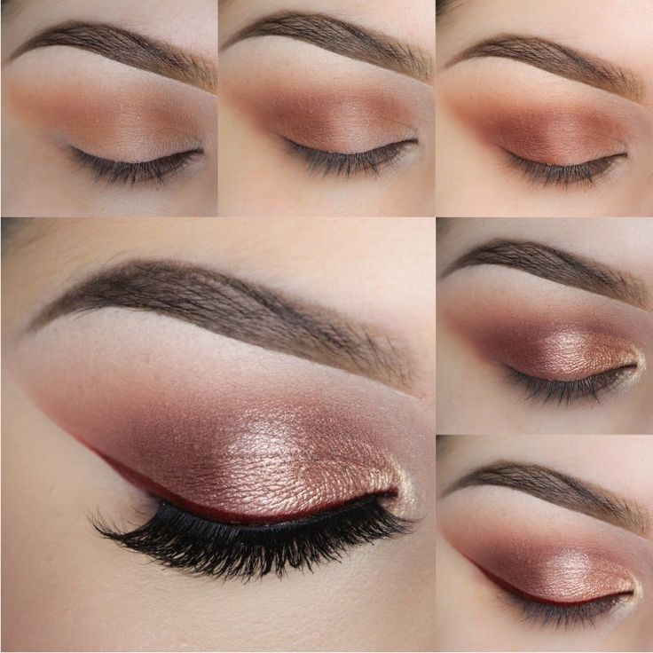 Pair a bold red liner with rose gold eyeshadow to create a more wearable yet unique look! Recreate this look by Stephanie Nicole using Makeup Geek's Creme Brulee, Cocoa Bear, Bitten, Grandstand, and Magic Act eyeshadows and foiled eyeshadows along with Poison gel liner to top it off!