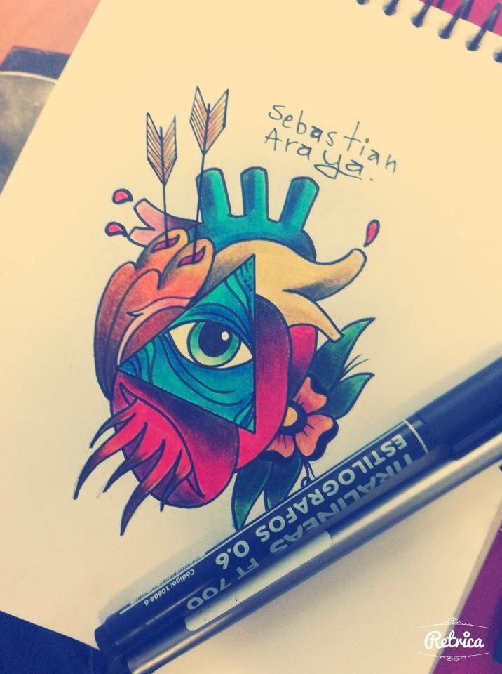 Diseño Sebastian Araya - Tattoo Artist - Santiago de Chile http://instagram.com/sebas_araya