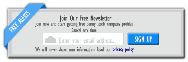Penny stock newsletter sign up box