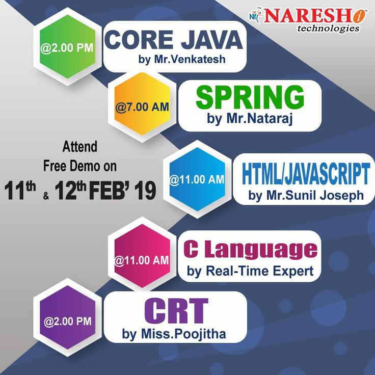 Attend Free Demo On New Batches On 11th & 12th Feb'19 By