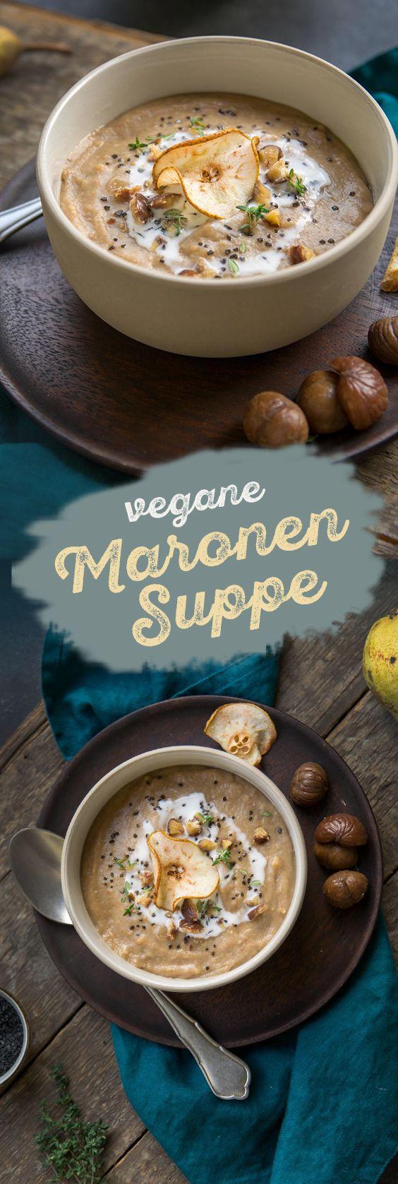 Wärmende Maronensuppe für kalte Wintertage. #vegan #gesunderezepte #glutenfrei #maronen #suppe
