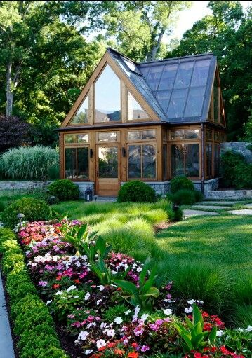 Perfect little greenhouse or a nice little, airy cabin.