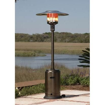 Exceptional 9 Foot Heating Radius   Fire Sense 46000 BTU Commercial Propane Patio Heater  With Piezo Ignition