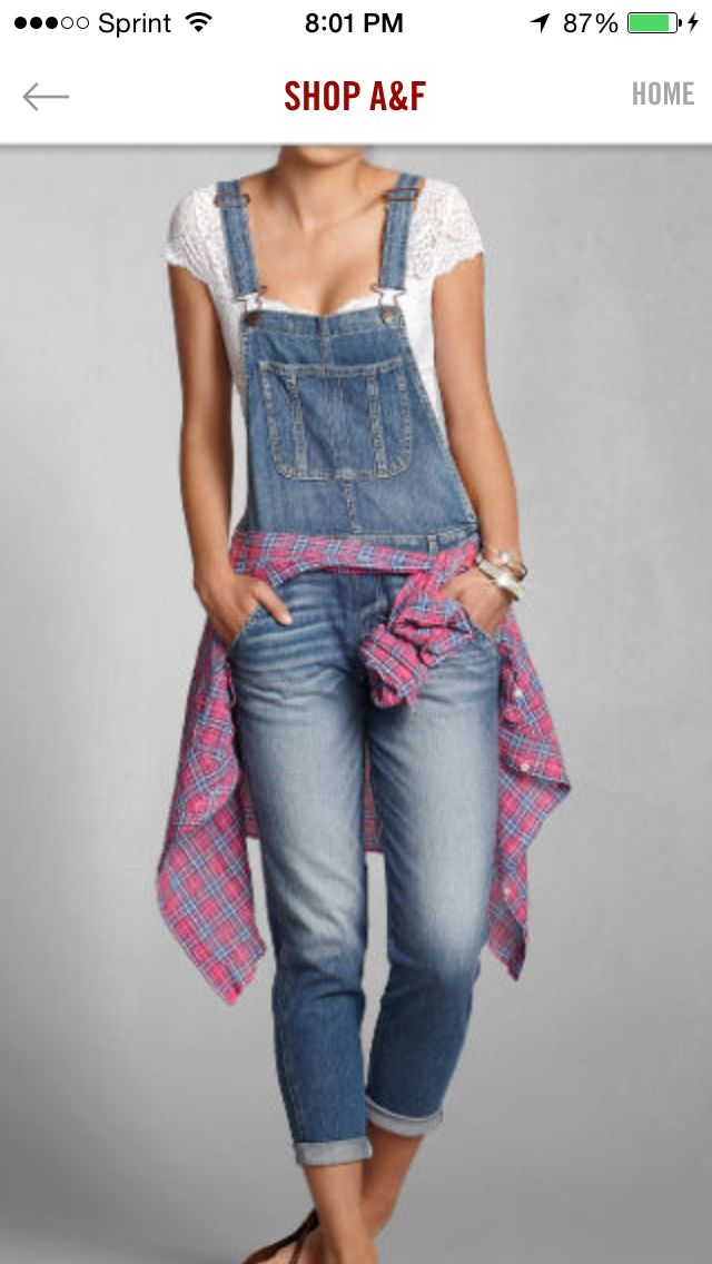 how to wear jean overalls