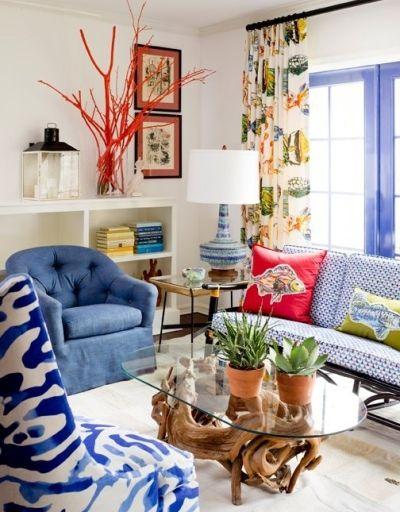 colorful coastal rooms