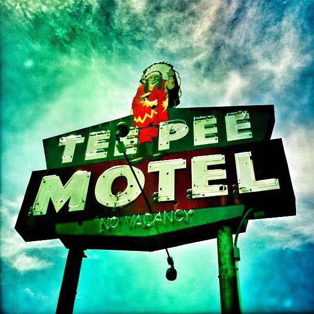 TeePee Motel in Wharton, Texas by MOLLYBLOCK, via Flickr