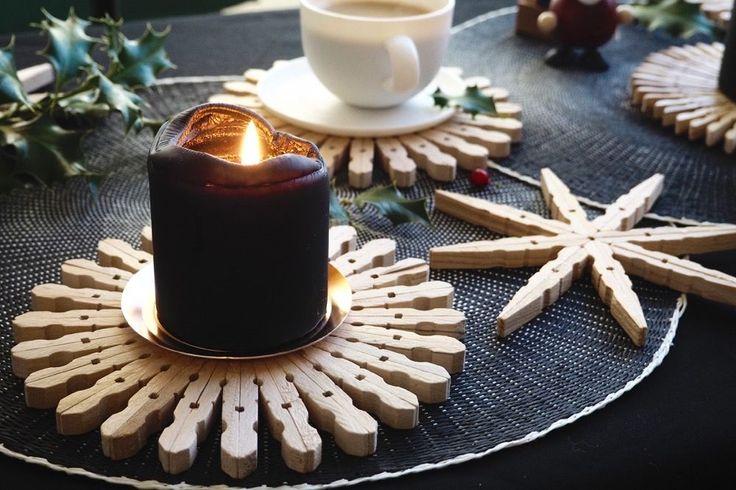 Dezente Weihnachtsdeko oder Untersetzer – DIY Holzsterne
