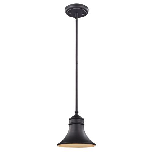 1-light suspended luminaire, lodge, oiled bronze