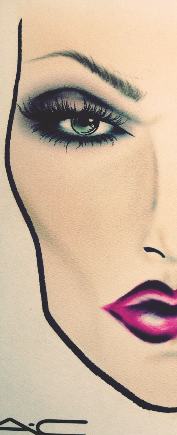 face chart I did