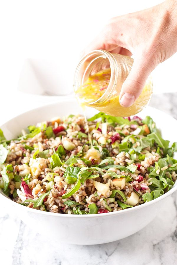 Winter Kale and Wild Rice Salad | www.reciperunner.com | A gorgeous, healthy, and flavorful whole grain salad perfect for serving this holiday season!