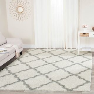 Shop for Safavieh Dallas Shag Ivory/ Grey Trellis Rug (8' x 10'). Get free shipping at Overstock.com - Your Online Home Decor Outlet Store! Get 5% in rewards with Club O!