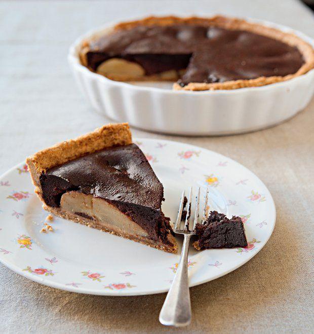 Kořeněný čokoládový koláč s hruškami , Foto: Silvie Kolevová / Jídlo jako vášeň