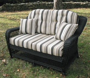 nantucket wicker loveseat replacement cushion set each back cushion wide high thick each bottom cushion wide deep thick - Replacement Cushions For Patio Furniture