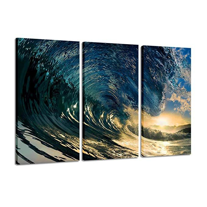 Amazon Com Canvas Painting Decor Ocean Pictures Prints Beach The