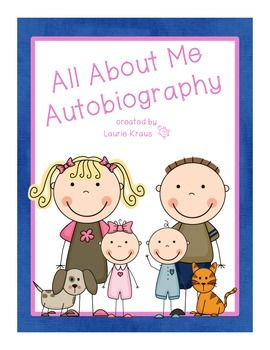 All About Me Autobiography - posters, graphic organizers, writing paper - TpT