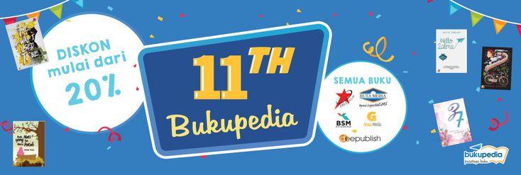 Promo Diskon 11 Tahun Bukupedia, Temukan Buku Favoritmu Disini! - PriceArea.com