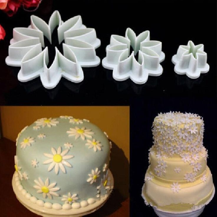 DIY Cookie Turn Sugar Flat Daisy Mould Kitchen Cake Pastry Tools