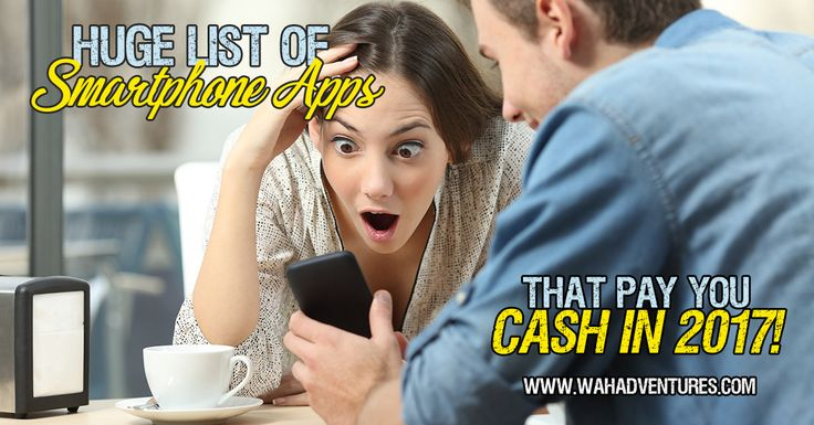 Download one of these 93 apps and start earning real cash today with your iPhone or Android smartphone.