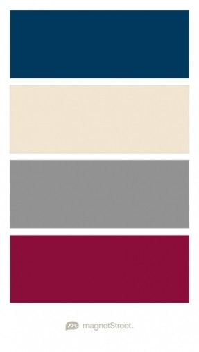Navy, Champagne, Classic Gray, and Burgundy Wedding Color Palette - custom color palette created at