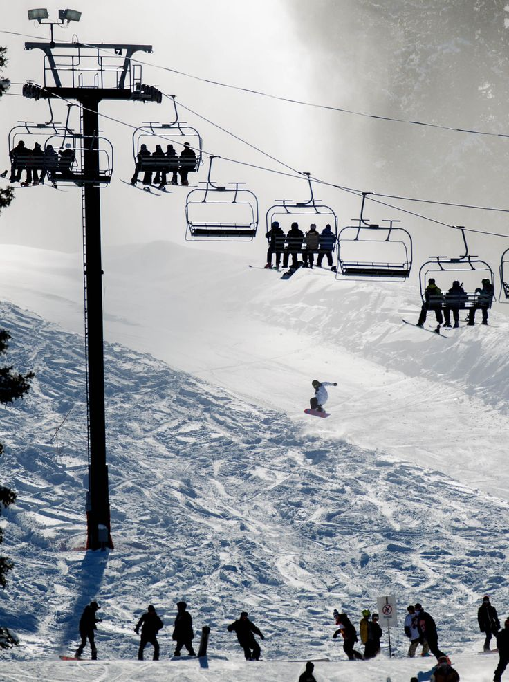 The ski lifts are full on opening day at Brighton Ski Resort on Nov. 13. (Trent Nelson  |  The Salt Lake Tribune)