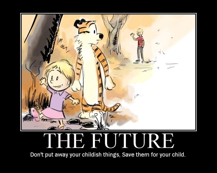I love Calvin and Hobbes...this actually brought a tear to my eye. So sweet.
