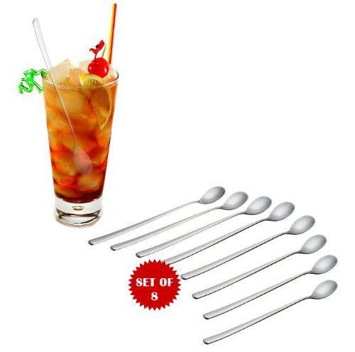 """8 1/2"""" ICED TEA SPOONS - SET OF 8"""